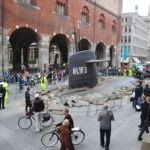 A submarine got stuck in Milan