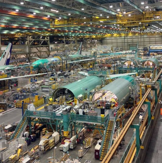 Boeing Factory Tour in Everett, in Seattle, home to the 747, 767, 777