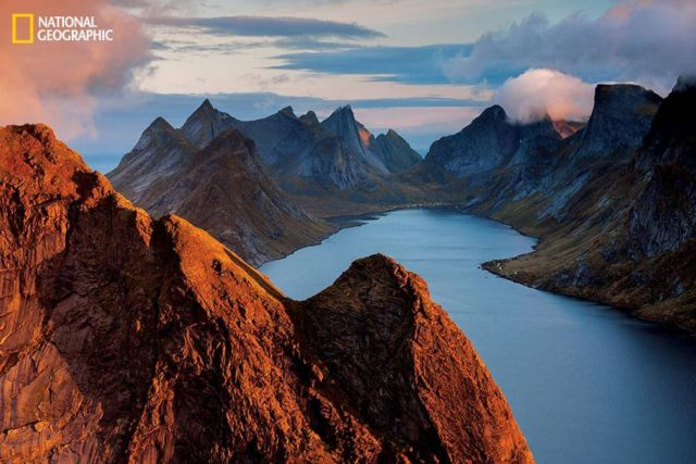 Coastal Norway, peaks of Norway's Lofoten Islands