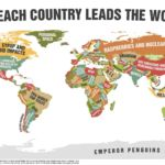 Each country leads the world in...