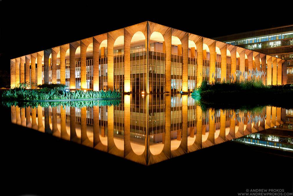 Palacio do Itamaraty at Night, Brasilia