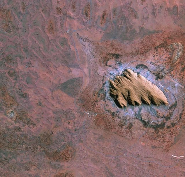 Our beautiful Planet from above. Australian outback-Uluru Ayers Rock
