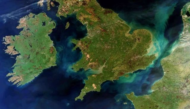 Our beautiful Planet from above. Ireland Great Britain and northern France