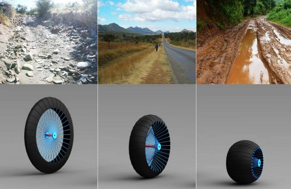 Roadless shape-shifting wheel 1