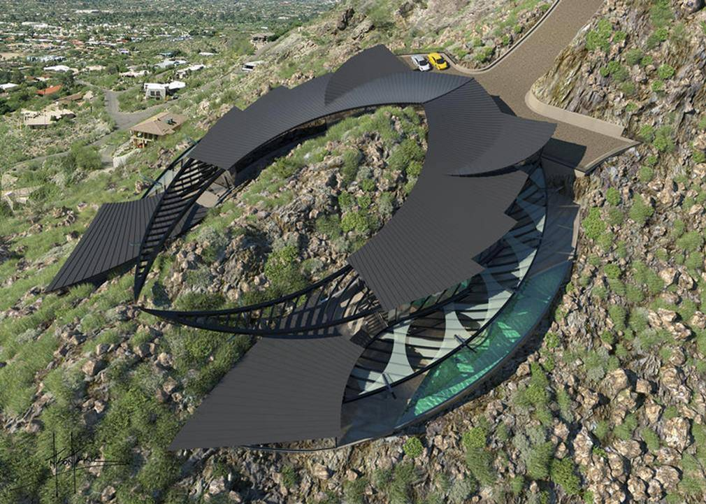 Stingray-shaped house in Arizona (9)