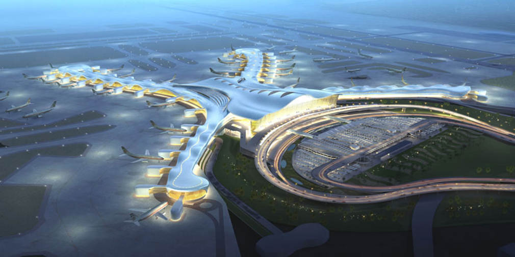 Abu dhabi airport complex by kohn pedersen fox wordlesstech for Hispano international decor abu dhabi