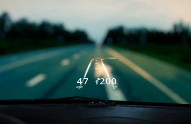 App displays augmented reality on the windshield (1)