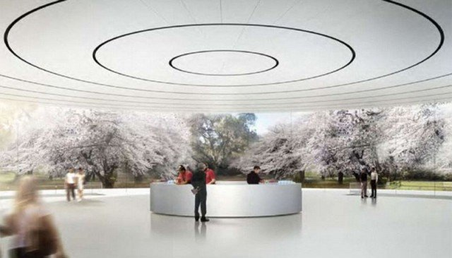 Apple reveals new images of its Spaceship like headquarters (5)