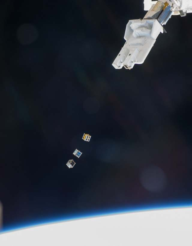 Cubesats Released from Space Station 1