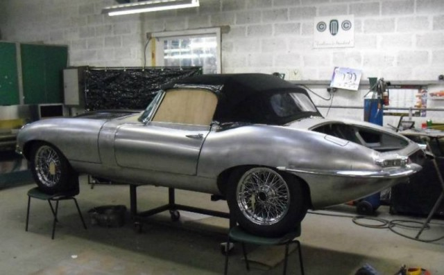 First Stretched Jaguar E-Type unveiled (1)