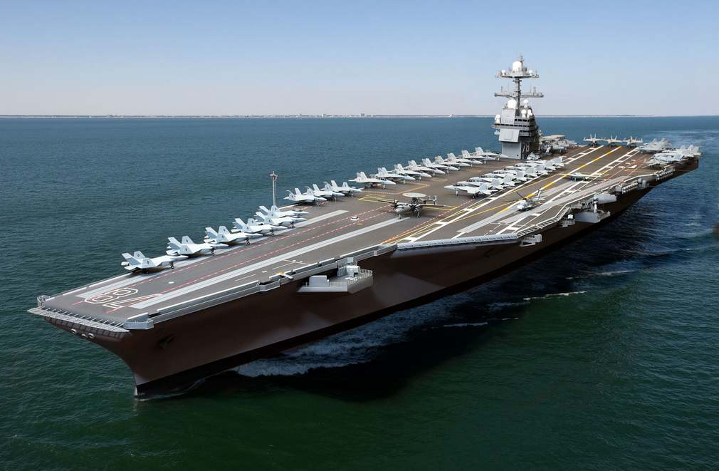 Floating city Aircraft carrier USS Gerald Ford (3)