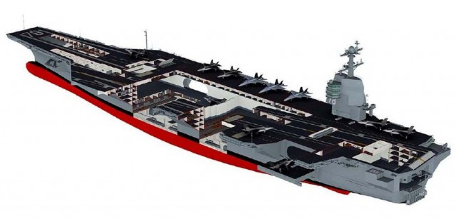Floating city Aircraft carrier USS Gerald Ford (2)