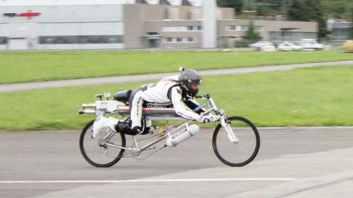 New Rocket Bicycle record 285 kmh 1