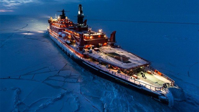 Nuclear icebreaker expedition to the North Pole (6)
