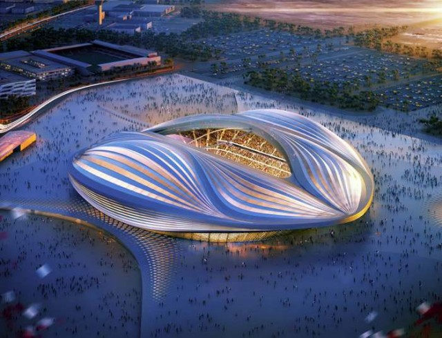 Qatar 2022 FIFA World Cup Stadium by Zaha Hadid 1