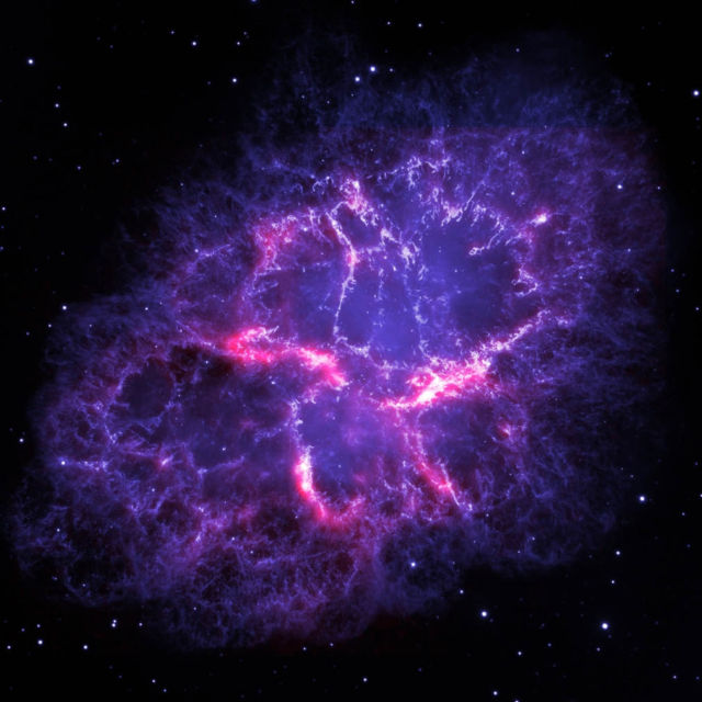 Crab Nebula by Herschel and Hubble