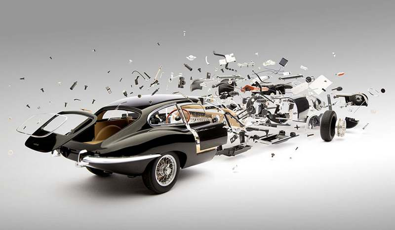 Explodes views of Classic Sports Cars by Fabian Oefner (7)