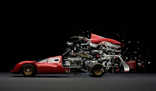 Explodes views of Classic Sports Cars by Fabian Oefner (3)