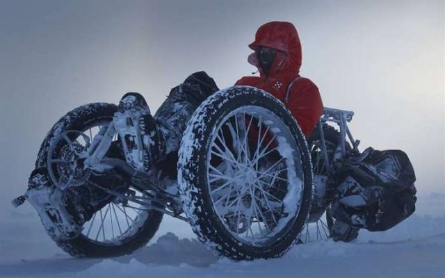 First person to cycle to the South Pole 2