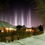 Light Pillars over Finland