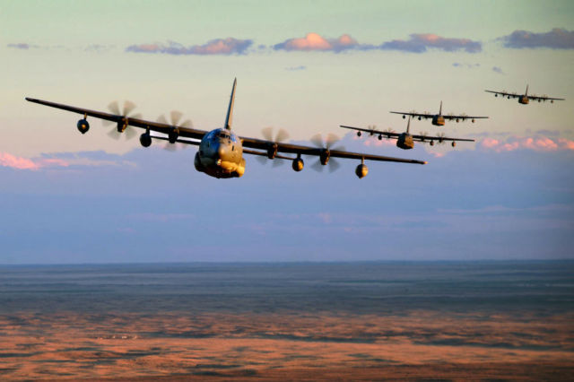 MC-130Js in formation
