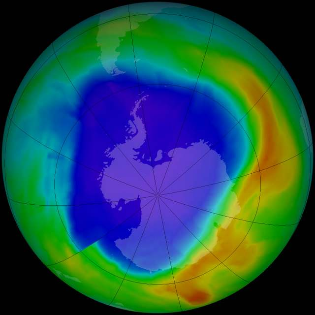 Ozone hole is not yet in recovery 1