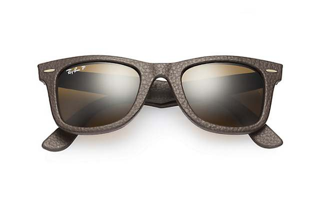 Ray-Ban Wayfarer Leather Sunglasses (4)