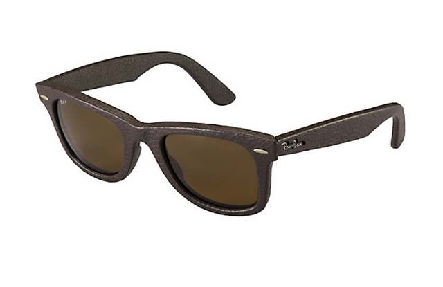 Ray-Ban Wayfarer Leather Sunglasses (3)