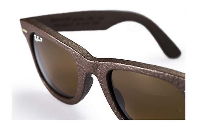 Ray-Ban Wayfarer Leather Sunglasses 4