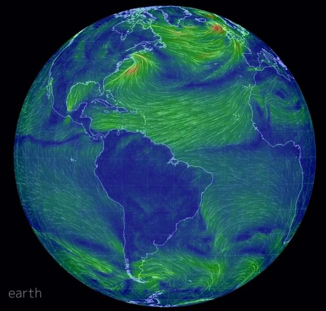 Real-time Global wind map (4)
