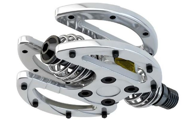 Spring-Mounted Bike Pedals 1