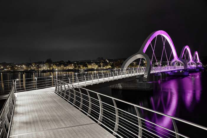 Sweden's Solvesborg bridge color changing LED lights (3)