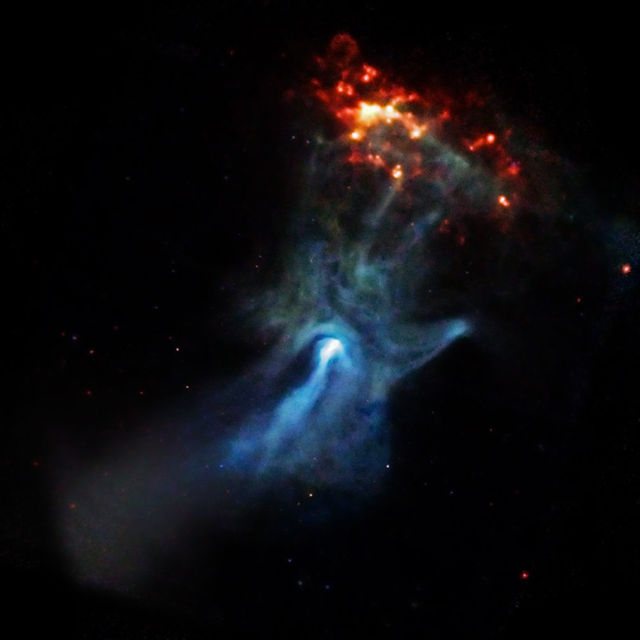 Young Pulsar shows its Hand