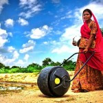 Concept waterwheel carrier for women in India