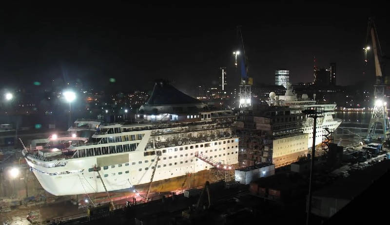 Cruise Ship Extension timelapse