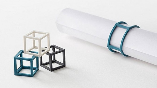 Elastic cubes replace rubber bands 1