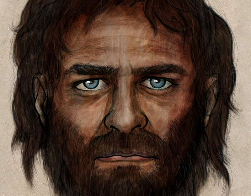 European 7000 year old man had blue eyes 1