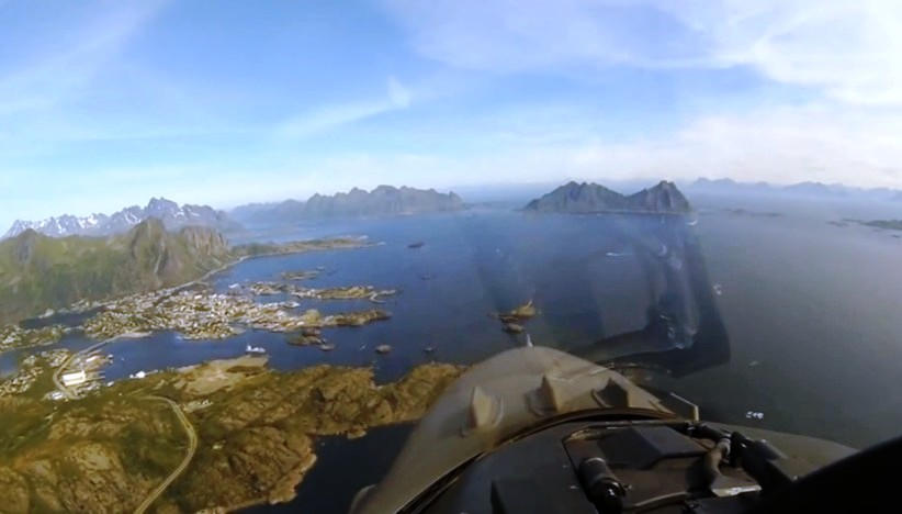 Flyby Norway with F-16