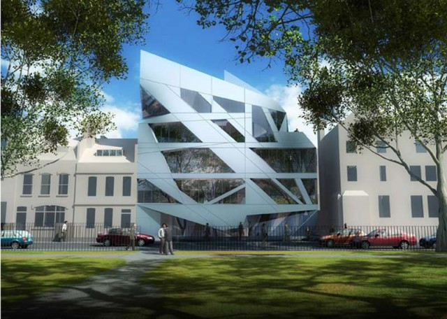 Giant Prism on London's Hoxton Square by Zaha Hadid (4)