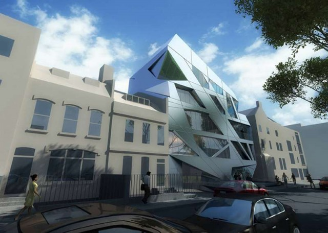 Giant Prism on London's Hoxton Square by Zaha Hadid (2)