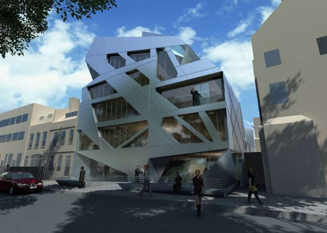 Giant Prism on London's Hoxton Square by Zaha Hadid (1)