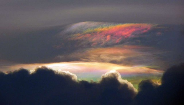 Iridescent Clouds above Bangalore