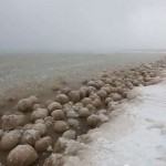 Lake Michigan has turned into a sea of ice balls