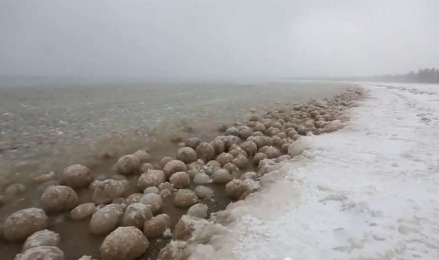 Lake Michigan has turned into a sea of ice balls 1