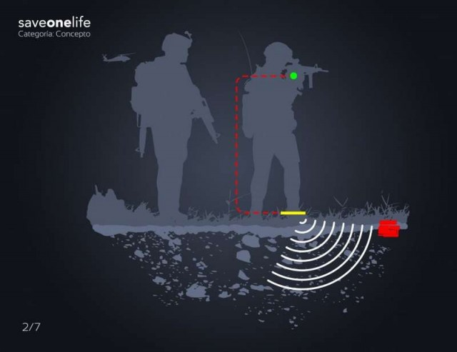 Mine detector in a shoe (4)