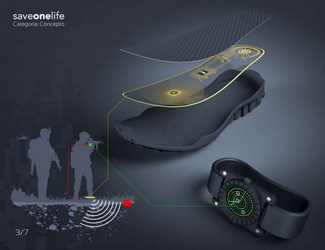 Mine detector in a shoe (2)