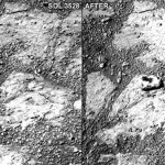 Mysterious rock just appeared in front of Opportunity r...