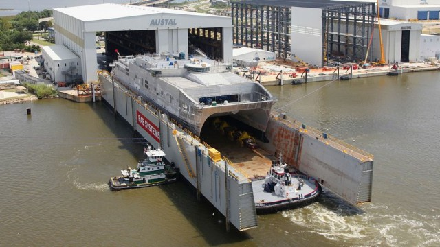 Navy's next generation Catamaran just launched 1