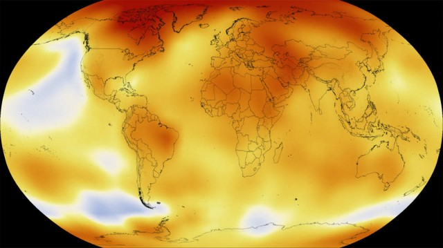 Six Decades of Global Warming in 15 seconds