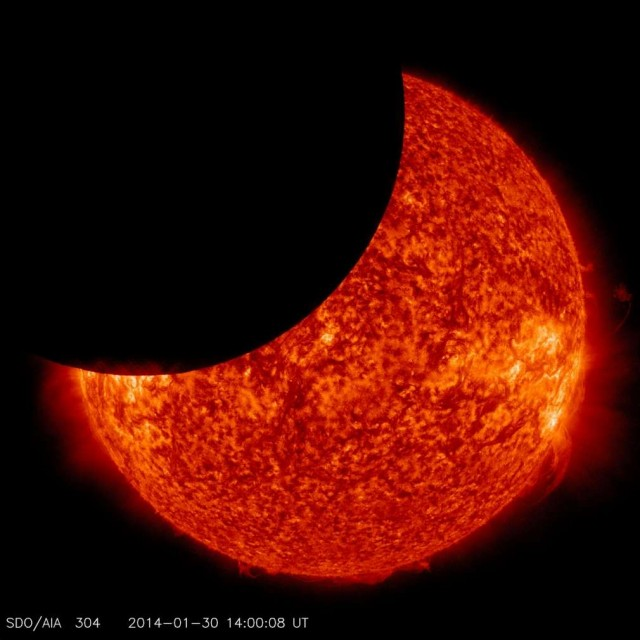 Solar eclipse from space 1